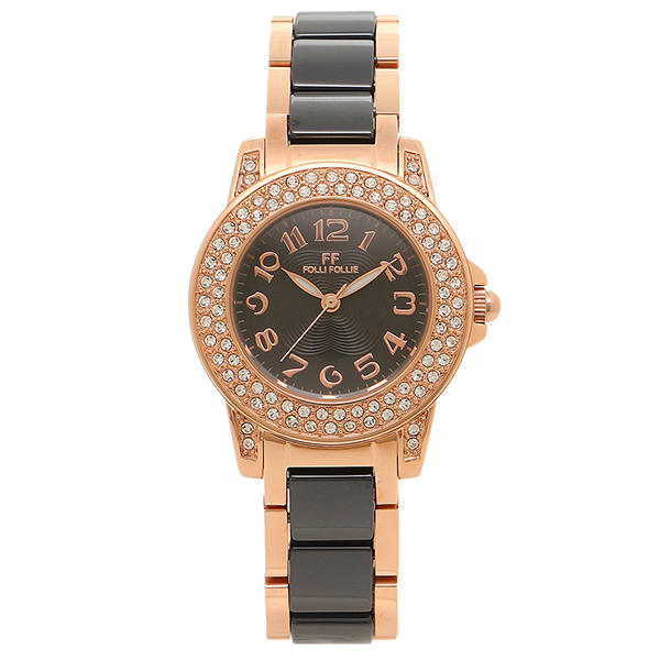 フォリフォリ FOLLI FOLLIE 時計 腕時計 フォリフォリ 時計 FOLLI FOLLIE 腕時計 レディース WF9B020BPK ブラック/ピンクゴールド ウォッチ