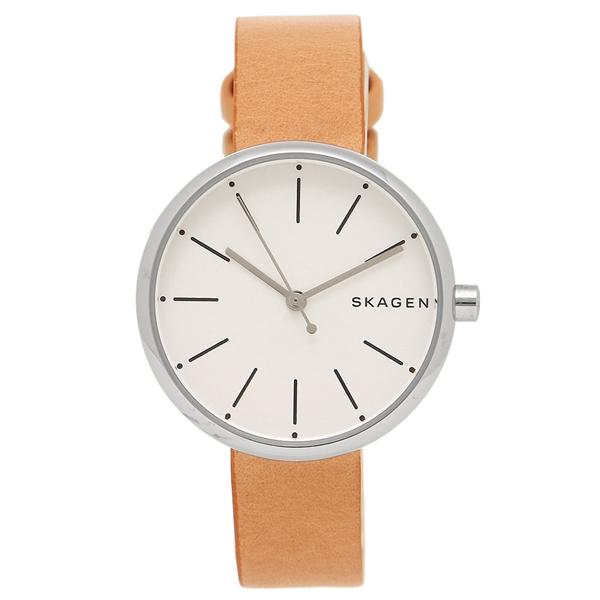 【2時間限定ポイント10倍】SKAGEN 腕時計 スカーゲン SKW2594 ホワイト シルバー ブラウン