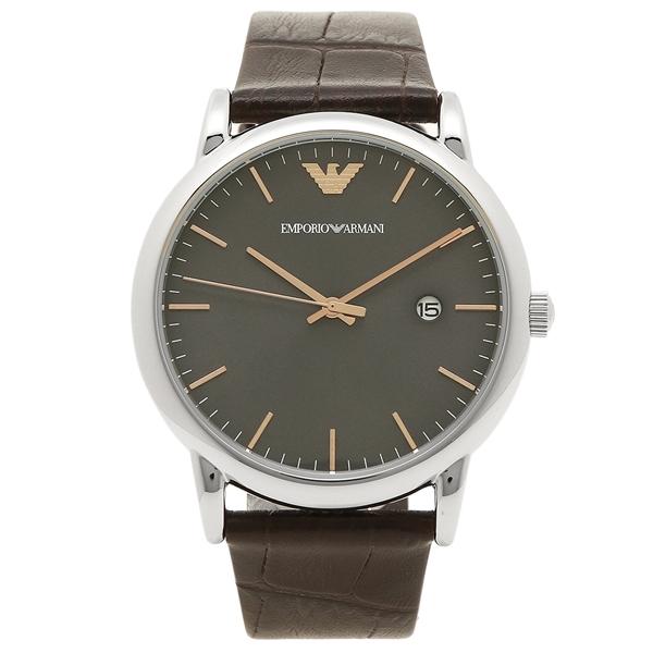 【6時間限定ポイント10倍】【返品OK】EMPORIO ARMANI メンズ 腕時計 エンポリオアルマーニ AR1996 グレー シルバー