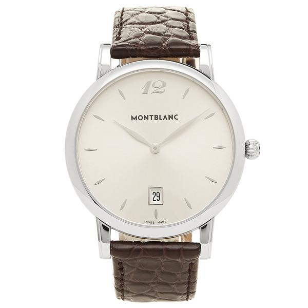 【2時間限定ポイント10倍】MONTBLANC メンズ 腕時計 モンブラン 108770 シルバー ブラウン