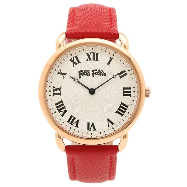 FOLLI FOLLIE レディース 腕時計 フォリフォリ WF16R013SPS-DR ホワイト ローズゴールド レッド