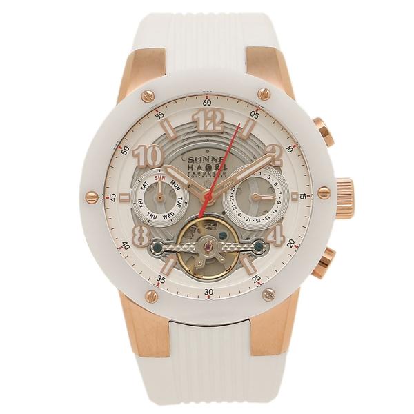 【返品OK】SONNE メンズ 腕時計 ゾンネ H017PG-WH ホワイト ローズゴールド