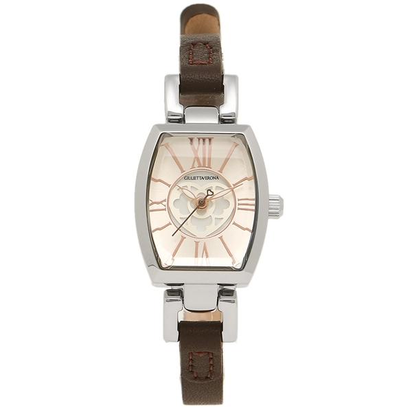 GIULIETTAVERONA 腕時計 レディース ジュリエッタヴェローナ GV006SIVBR シルバー ブラウン, シガチョウ:17d027ad --- s373.jp