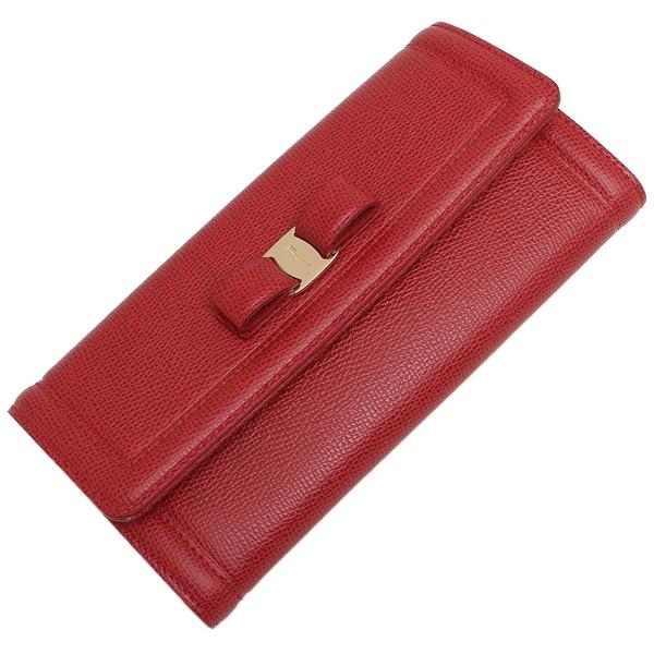 Ferragamo Lady's long wallet Salvatore Ferragamo 22C870 0673699 red