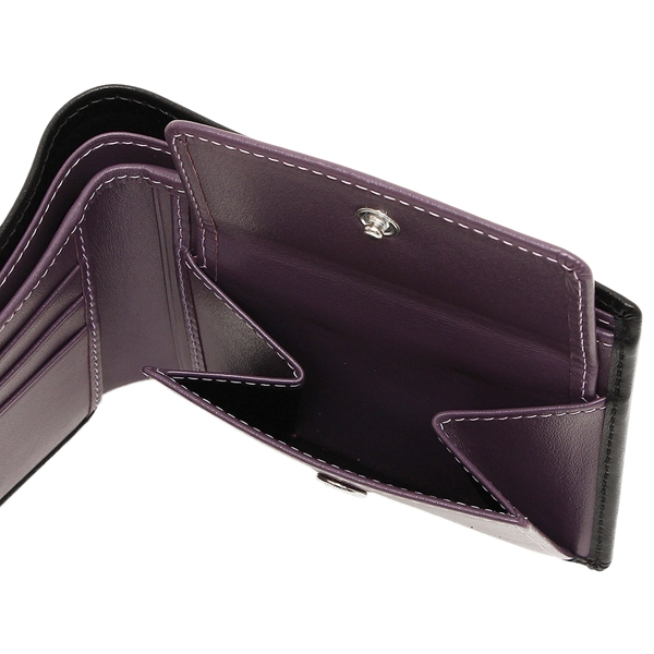 エッティンガーメンズ fold wallet ETTINGER ST141JR black purple
