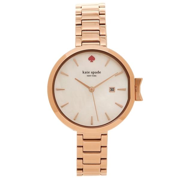 【24時間限定ポイント5倍】ケイトスペード 腕時計 レディース ローズゴールド ホワイト KSW1323