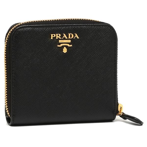 【4時間限定ポイント10倍】プラダ 折り財布 レディース PRADA 1ML522 QWA F0002 ブラック