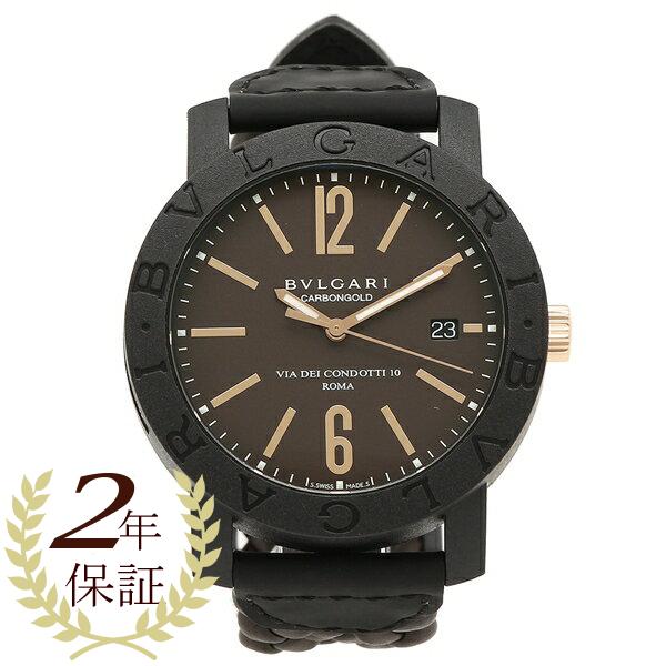【期間限定ポイント5倍】BVLGARI 腕時計 メンズ ブルガリ BBP40C11CGLD ブラウン ブラック