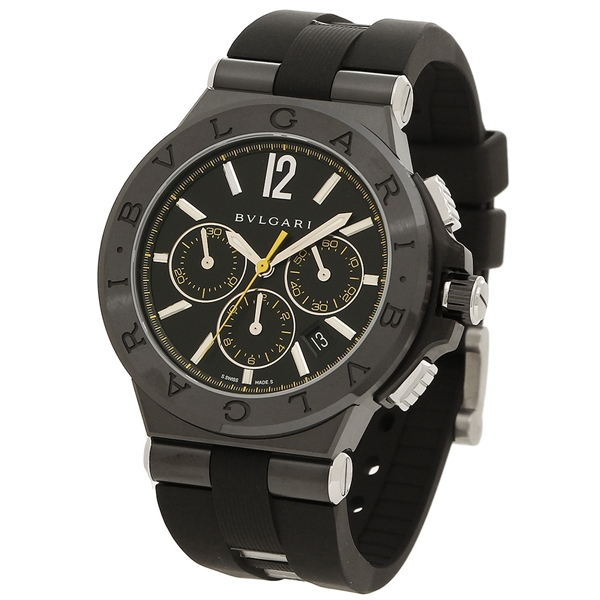 hot sale online 9c049 53628 BVLGARI watch men Bulgari DG42BBSCVDCH/2 black