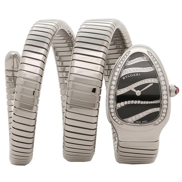 【期間限定ポイント5倍】BVLGARI 腕時計 レディース ブルガリ SP35BDSDS-2T ブラック シルバー