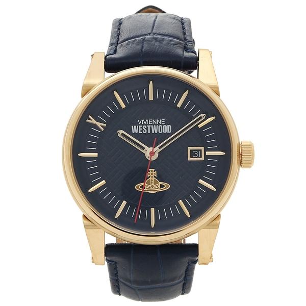 【28時間限定ポイント5倍】ヴィヴィアンウエストウッド 腕時計 メンズ VIVIENNE WESTWOOD VV065BLBL ネイビーブルー イエローゴールド