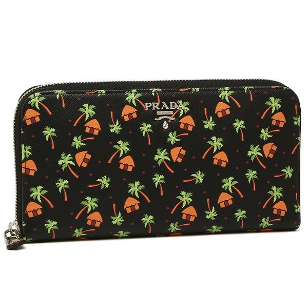 Prada long wallet Lady's PRADA 1ML506 2EG3 F0002 black