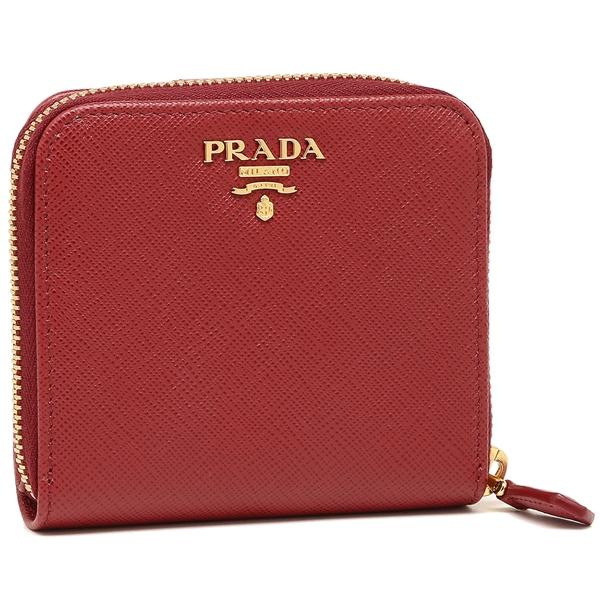 【4時間限定ポイント10倍】プラダ 折財布 レディース PRADA 1ML522 QWA F068Z レッド