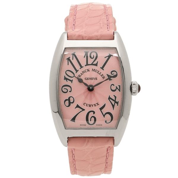 Frank Muller clock Lady's FRANCK MULLER 1752QZ PNK PNK pink silver
