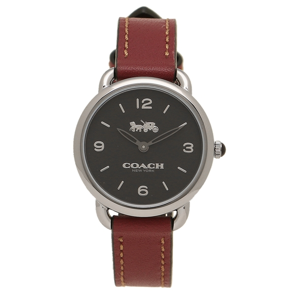 【6時間限定ポイント10倍】【返品OK】コーチ 腕時計 レディース COACH 14502792 W1249 チェリーレッドブラウン シルバー ブラック
