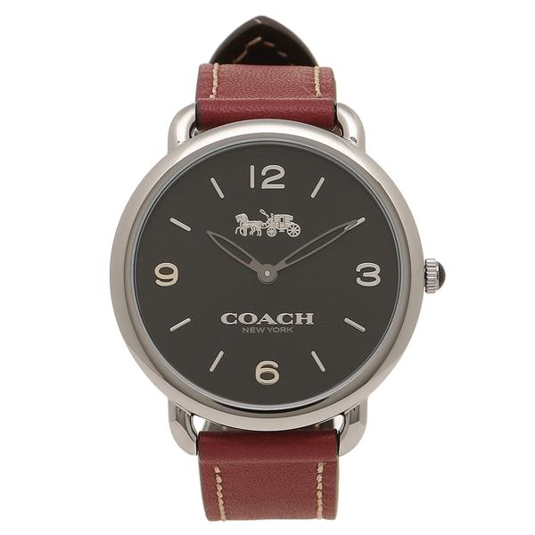 コーチ 腕時計 レディース COACH 14502796 チェリーレッドブラウン シルバー ブラック