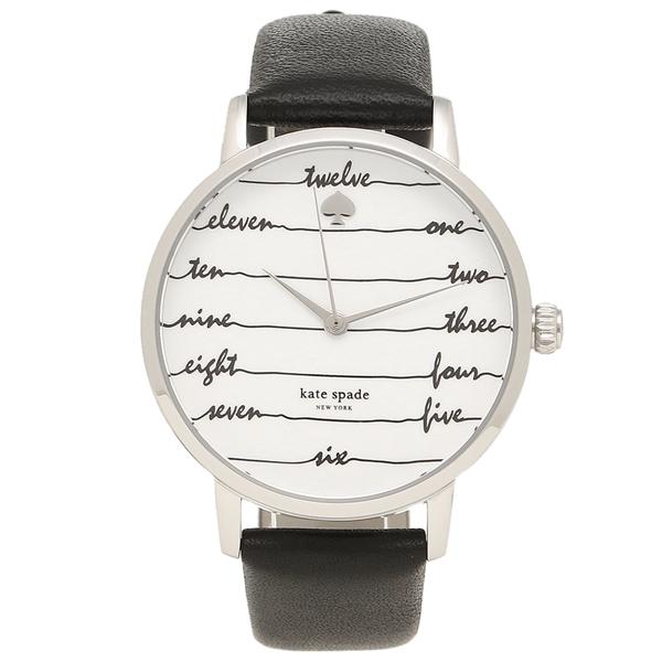 【24時間限定ポイント5倍】ケイトスペード 腕時計 レディース KATE SPADE KSW1348 シルバー ブラック