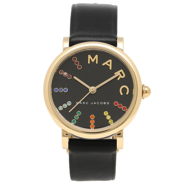 マークジェイコブス 腕時計 レディース MARC JACOBS MJ1592 ブラック イエローゴールド マルチカラー