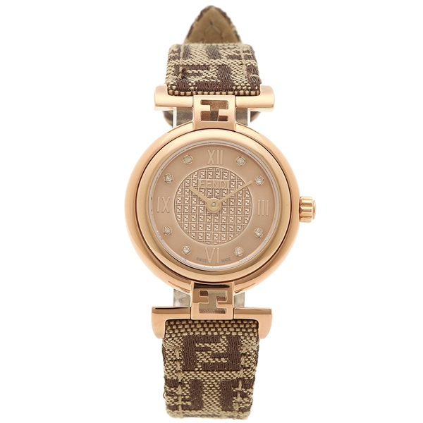 【6時間限定ポイント10倍】【返品OK】フェンディ 腕時計 レディース FENDI F275272DF ピンクゴールド ブラウン