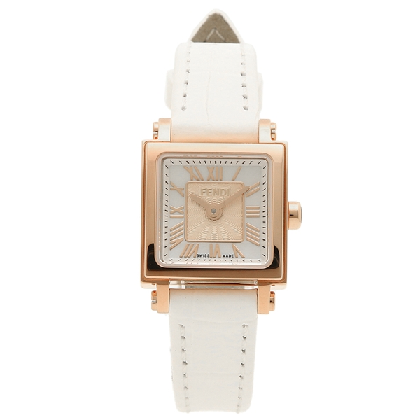 【9時間限定ポイント10倍】【返品OK】フェンディ 腕時計 レディース FENDI F604524541 ホワイトパール ピンクゴールド