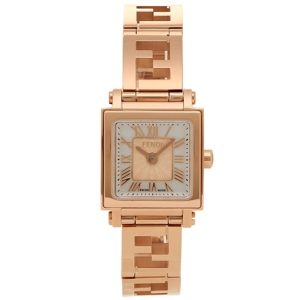 【期間限定ポイント10倍】【返品OK】フェンディ 腕時計 レディース FENDI F605524500 ホワイトパール ピンクゴールド