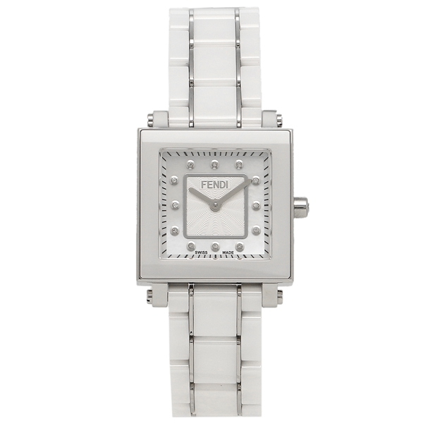 【期間限定ポイント5倍】【返品OK】フェンディ 腕時計 レディース FENDI F622240BD ホワイトパール ホワイト シルバー