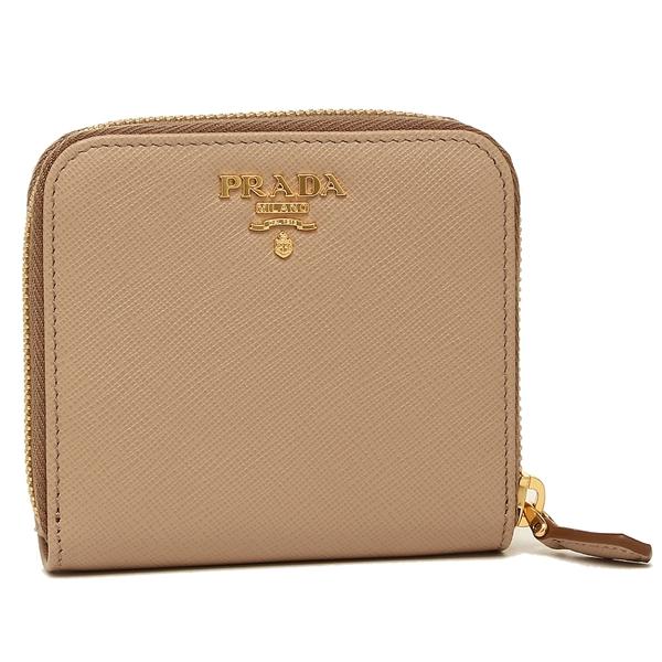 プラダ 折財布 レディース PRADA 1ML522 QWA F0770 ベージュピンク