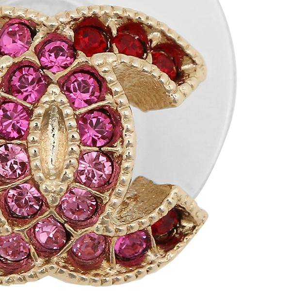 Chanel pierced earrings accessories Lady's CHANEL A99179 Y49127 Z5321 gold pink
