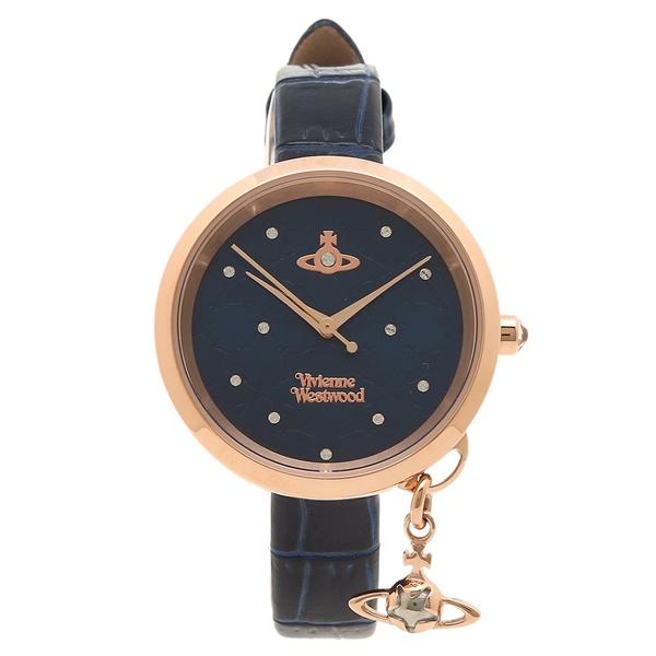 ヴィヴィアンウエストウッド 腕時計 レディース VIVIENNE WESTWOOD VV139NVNV ブラック イエローゴールド ブルー