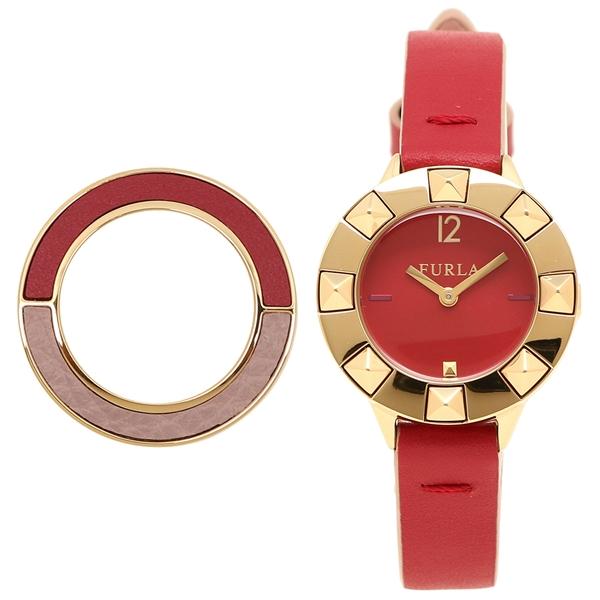 フルラ 腕時計 レディース FURLA R4251109518 899459 ルビーレッド イエローゴールド