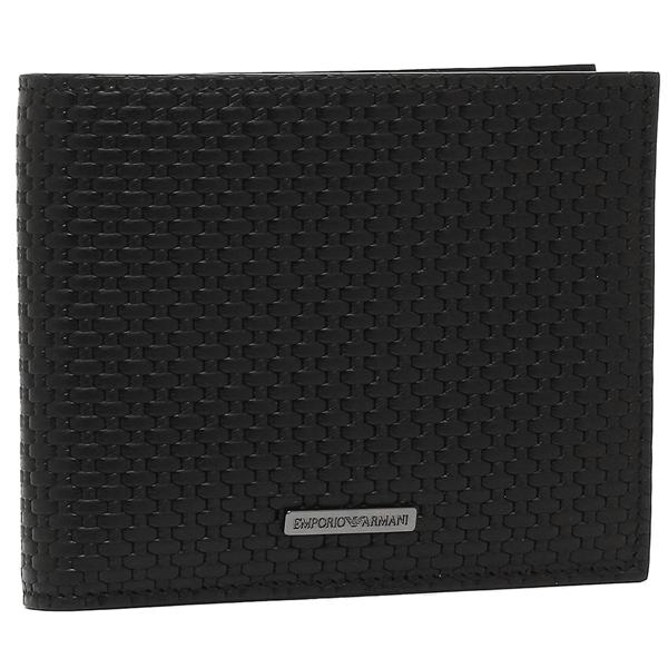 エンポリオアルマーニ 二つ折り財布 メンズ EMPORIO ARMANI YEM122 YCG6J 80001 ブラック
