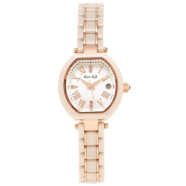 【返品OK】ルビンローザ 腕時計 レディース Rubin Rosa R308PBE ピンクゴールド ホワイトベージュ
