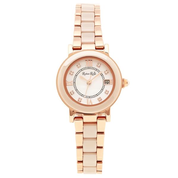 【返品OK】ルビンローザ 腕時計 レディース Rubin Rosa R309PBE ピンクゴールド ホワイトベージュ