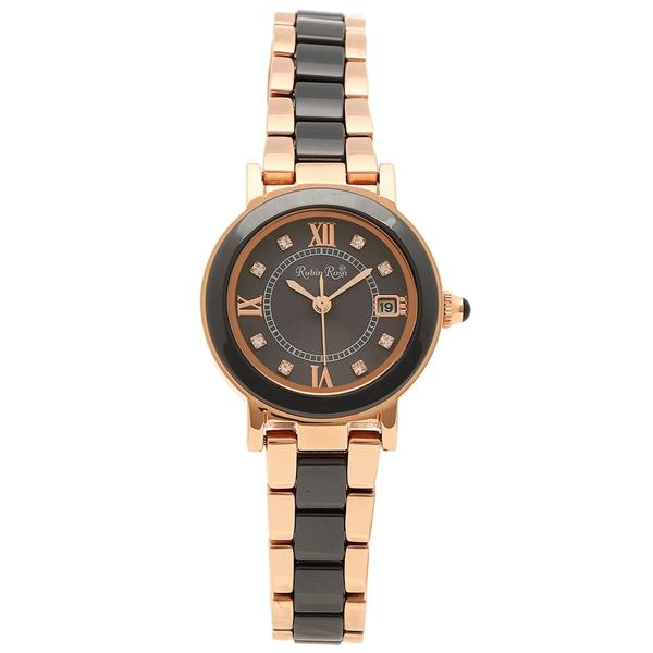【返品OK】ルビンローザ 腕時計 レディース Rubin Rosa R309PBK ピンクゴールド ブラック