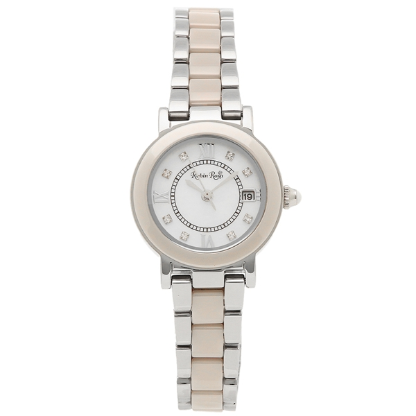 【4時間限定ポイント5倍】ルビンローザ 腕時計 レディース Rubin Rosa R309SBE シルバー ホワイトベージュ