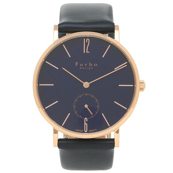 フルボデザイン 腕時計 メンズ Furbo design F01-PNVNV ネイビーブルー ピンクゴールド