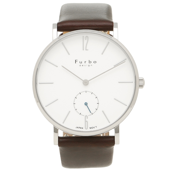 フルボデザイン メンズ Furbo ブラウン 腕時計 シルバー design F01-SWHBR