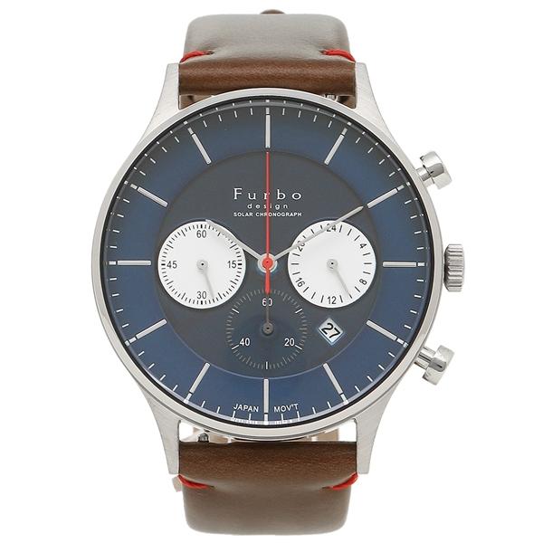フルボデザイン 腕時計 メンズ Furbo design F751-SNVBR ブラウン ブルー シルバー