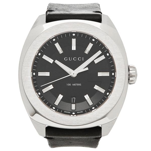 グッチ 腕時計 メンズ GUCCI YA142206 ブラック シルバー