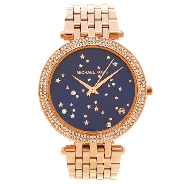 michael kors watch ladys michael kors mk3728 rose gold blue