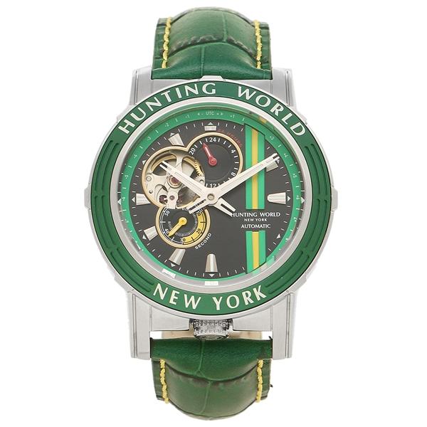 【2時間限定ポイント10倍】ハンティングワールド 腕時計 メンズ HUNTING WORLD HW993GR グリーン シルバー