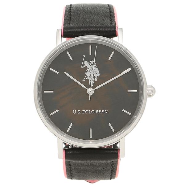 ユーエス ポロ 時計 レディース メンズ US POLO ASSN US-1A-BK ブラックシェル ブラック ピンク