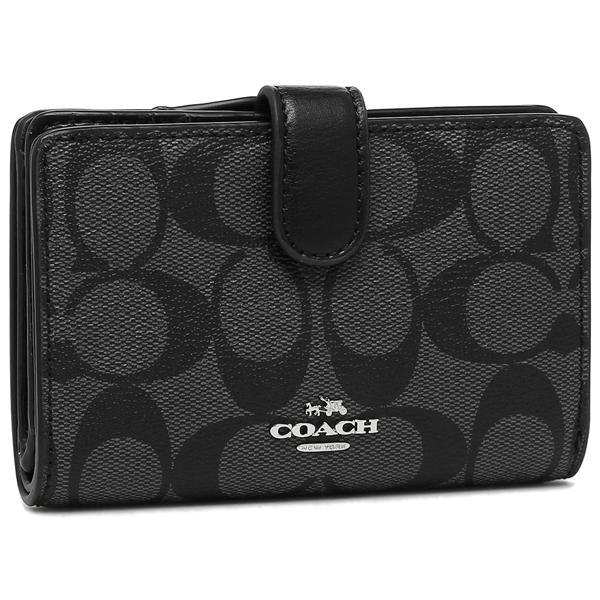 コーチ 二つ折り財布 アウトレット レディース COACH F23553 SVDK6 ブラック