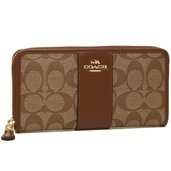 official photos 97b66 18ed2 Coach long wallet outlet outlet COACH F54630 IME74 brown