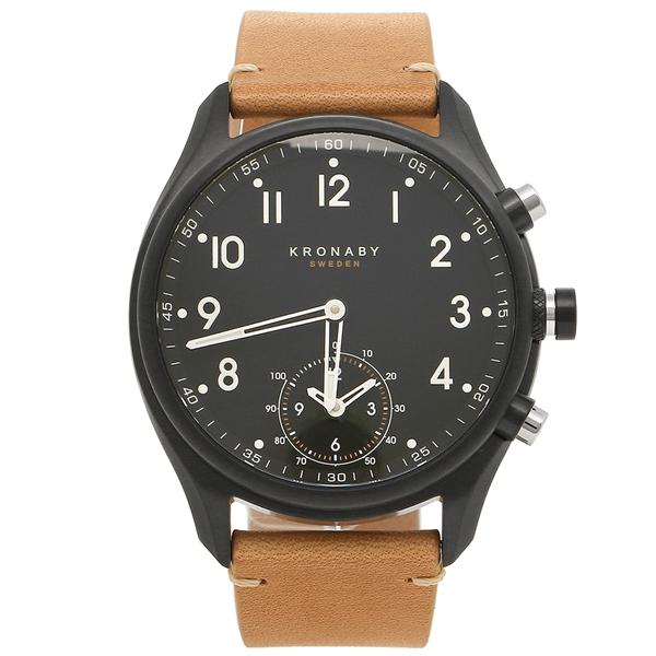 【返品OK】クロナビー 腕時計 KRONABY A1000-1908 ブラック ベージュ