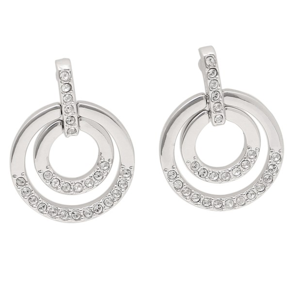 c613038e5 Swarovski pierced earrings accessories lady's SWAROVSKI 5349203 silver clear  ...