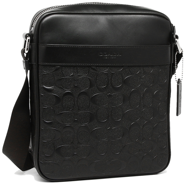 84aed076 Coach bag outlet COACH F11741 Charles flight bag signature cross grain  leather men shoulder bag
