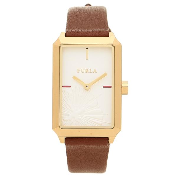 フルラ 腕時計 レディース FURLA R4251104506 899279 ブラウン ホワイト イエローゴールド