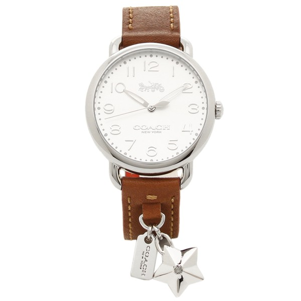 【返品OK】コーチ 腕時計 レディース COACH 14502820 ブラウン ホワイト シルバー