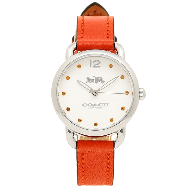 【24時間限定ポイント5倍】コーチ 腕時計 レディース COACH 14502907 オレンジ ホワイト シルバー